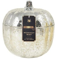 Silver Mercury Pumpkin Candle