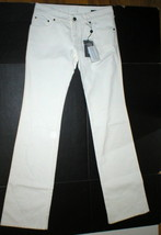 New NWT 4 6 Alexander McQueen Womens Jeans Designer Italy 42 White Tall 30 x 37 image 2