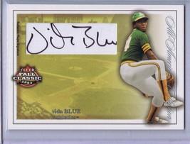 Vida Blue 2003 Fleer Fall Classic Autograph 21/100 #AAA/VB A's - $27.93