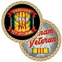 """1968 VIETNAM TET OFFENSIVE SURVIVOR 1.75""""  CHALLENGE COIN - $16.24"""