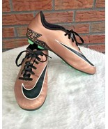 Rose Gold Nike Soccer Cleats Hypervenom Metallic Bronze Size 6Y Youth 74... - $19.60