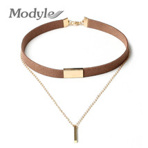 Black and Brown Velvet Choker Necklaces Jewelry For Women  - $8.00