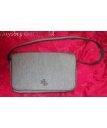 RALPH LAUREN Black Linen Designer Handbag - $37.62