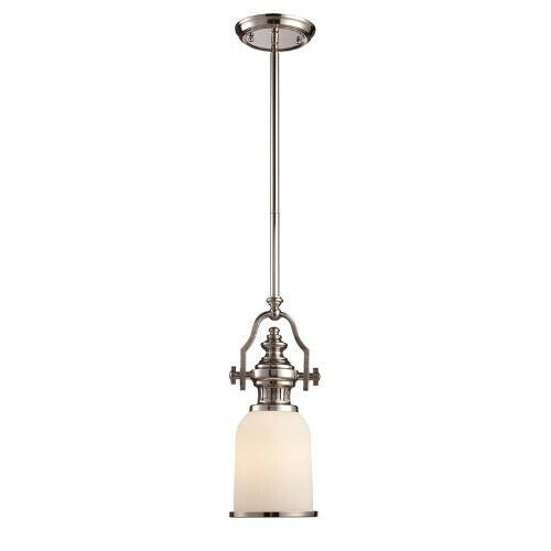 "Primary image for Elk Lighting 66112-1-Chadwick Single Light 6"" Wide Mini Pendant -Polished Nickel"