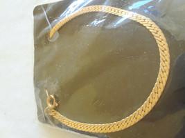 STUNNING ESTATE NOS Vintage Herringbone Gold Tone Bracelet - $3.00