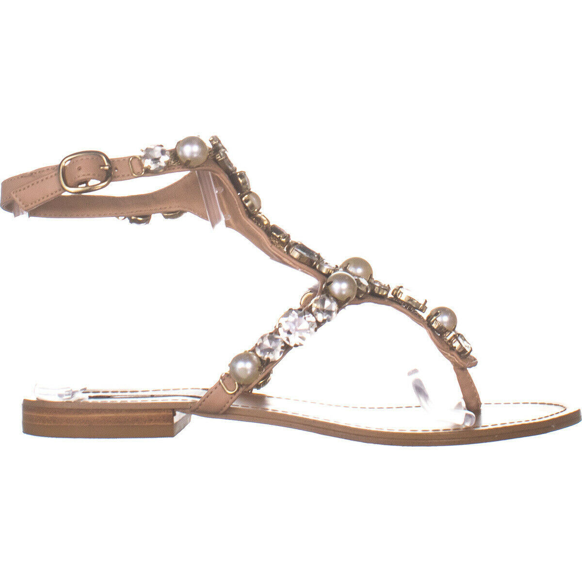 Steve Madden Chantel Flat Ankle Strap Sandals, Blush Multi 115, Blush Multi, 7 image 5