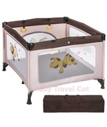 Baby Travel Cot Bed Portable Infant PlayPen Child Play Area W/ Carry Bag... - $98.15