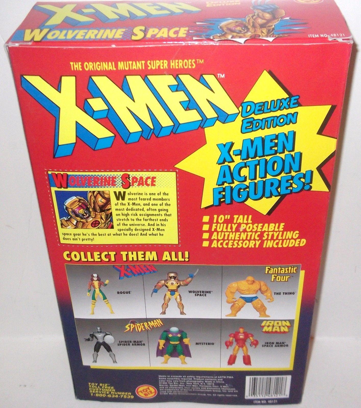"MARVEL COMICS - X-MEN - DELUXE ED. WOLVERINE SPACE 10"" FIGURE - 1995 - MISB"
