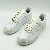 Nike Air Force AF 1 82 Low (GS) Big Kids Shoes White/White 314192-117 Size 4.5 - $110.00