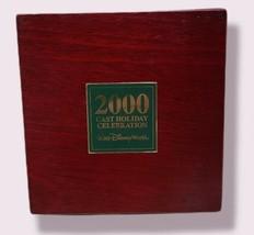"Walt Disney World Cast Member ""2000"" Holiday Celebration 5 Pin Set in Wooden Box - $24.64"