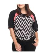 Plus size boat neck 3/4 sleeves apple bottom top - $13.50