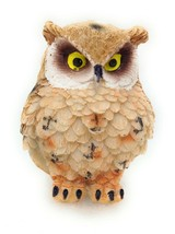 Owl Figurine Small Tan 2 inch Garden Home Decor Gift New GSC 54281 B - $5.77