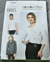 Pattern Vogue Designer Top Loose Fit Katherine Tilton V8834 Uncut - $9.79