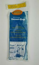 Envirocare Royal AiroPro 2000 Paper Vacuum Bags Type Q (7 Bags+ 1 Filter) NEW - $13.09