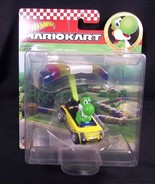 Hot Wheels Mariokart diecast YOSHI Sports Coupe PARAFOIL NEW - $13.96