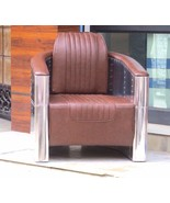 Aviator chair - vintage aluminum aviator chair - $1,299.00