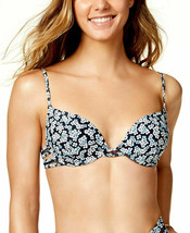 Michael Kors Women's Navy Over The Shoulder Underwire Bikini Top, Medium - $24.74