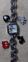 "Disney Mickey Mouse Watch 7.5"" Charm Tennis Bracelet MK2049 Works FreeShip - $527,10 MXN"