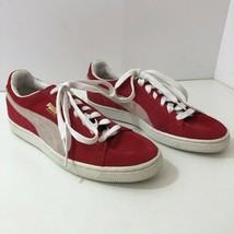 PUMA Suede Classic Team Regal Red White Sneakers 352634-05 Mens Size 8.5 - $33.94