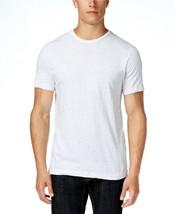 Hombre Alfani Blanco Heather Fiberized Camiseta Cuello en Pico Talla L - $10.39