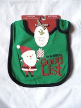 Carter's Precious Firsts On Auntie's Good List Christmas Teething Bib-NWT - $5.99