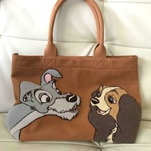 Disney Store Japan Lady and the Tramp Embroidered Tote Bag Handbag Case ... - $77.22