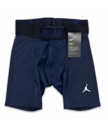 Jordan Men's Alpha 6'' Compression Shorts Navy Blue NIKE Dri-Fit  865862... - $27.99