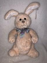 "Gund Soft Rose Smoothie Plush Bunny Rabbit 3611 Floral Ribbon Bow 11"" St... - $12.99"