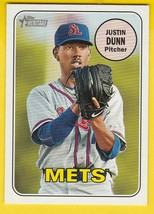 JUSTIN DUNN 2018 TOPPS HERITAGE #121 NEW YORK METS  - $1.98