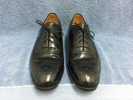 Johnston & Murphy Limited Wing Tip Oxford Shoes Men's Size 10 1/2 C Usa Euc - $56.09