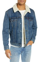 Levi's Strauss Men's Cotton Sherpa Lined Denim Jean Trucker Jacket 163650040