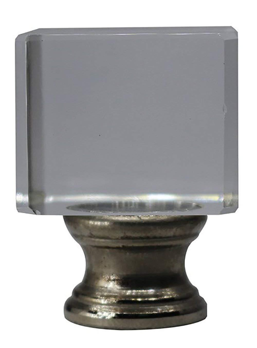 """Urbanest Crystal Glace Lamp Finial, 1 1/2"""" Tall"""