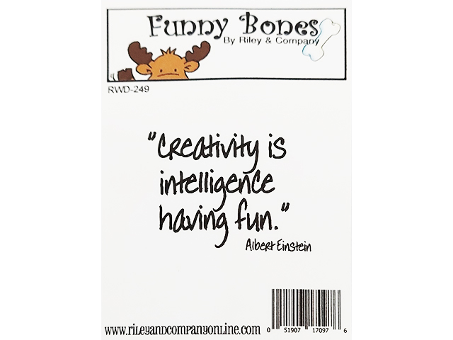 Riley & Company Funny Bones Rubber Cling Sentiment Stamp #RWD-249