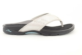 Abeo Balboa Slides Thong Sandals  Silver  Size US 9  Metatarsal Footbed (  ) - $114.00