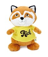 "Hallmark Shirt Tales Rick Raccoon Stuffed Animal, 14"" Classic Stuffed An... - $11.36"