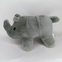 "K & M  Rhino  plush gray African Rhino stuffed animal toy 10"" - $19.00"