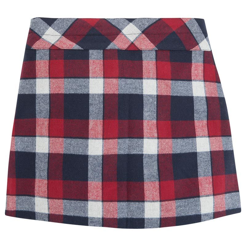 Mayoral Tween Girls Brushed Tartan Check Plaid Skirt image 2