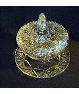 Lidded Hobstar Fan Kidded Candy / Condiments Bowl and Dish Missing Ladle... - $89.10