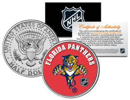 FLORIDA PANTHERS  NHL Hockey JFK Kennedy Half Dollar U.S. Coin * LICENSED * - $8.86