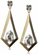 TOVA 14mm x 10mm Swarovski Cristal Transparente Oro Tono Triángulo Cometa Gota