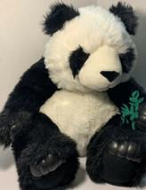 "Big Fat Panda Plush With Some Bamboo Teddy Bear Adorable Jumbo Large 17"" - $45.00"