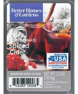 Pomegranate Spiced Cider Better Homes and Gardens Scented Wax Cubes Tart... - $3.50