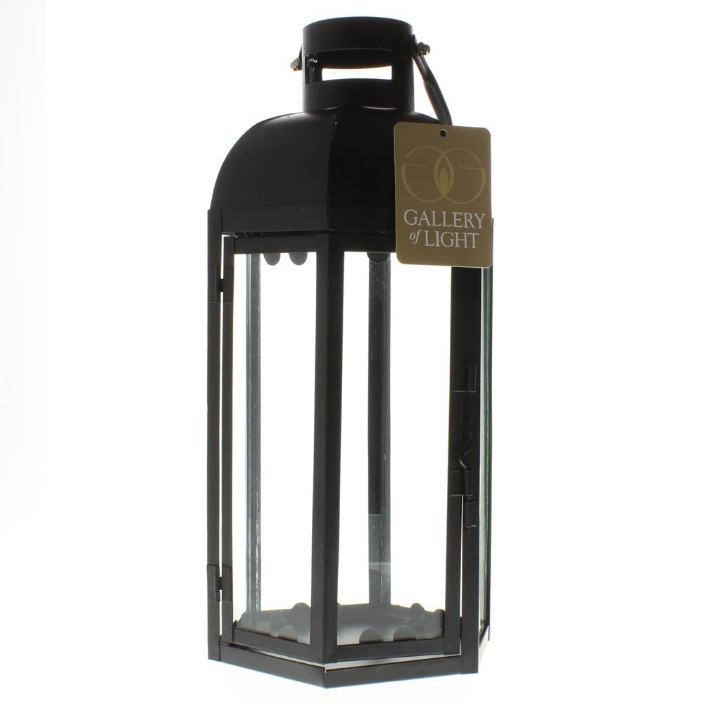 Black Lantern Candle Holder, Small Rustic Outdoor Metal Lanterns For Candles image 4