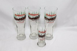 Libbey Budweiser Clydesdale Holiday Beer Glasses Set of 4 - $30.87