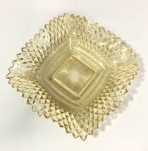 "Westmoreland English Hobnail Square 6 3/4"" Amber Depression Glass Plate ... - $22.28"