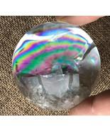 """2.12"""" Clear Natural Quartz Crystal  Sphere Rainbow Ball Reiki Healing 217g - $233.59"""