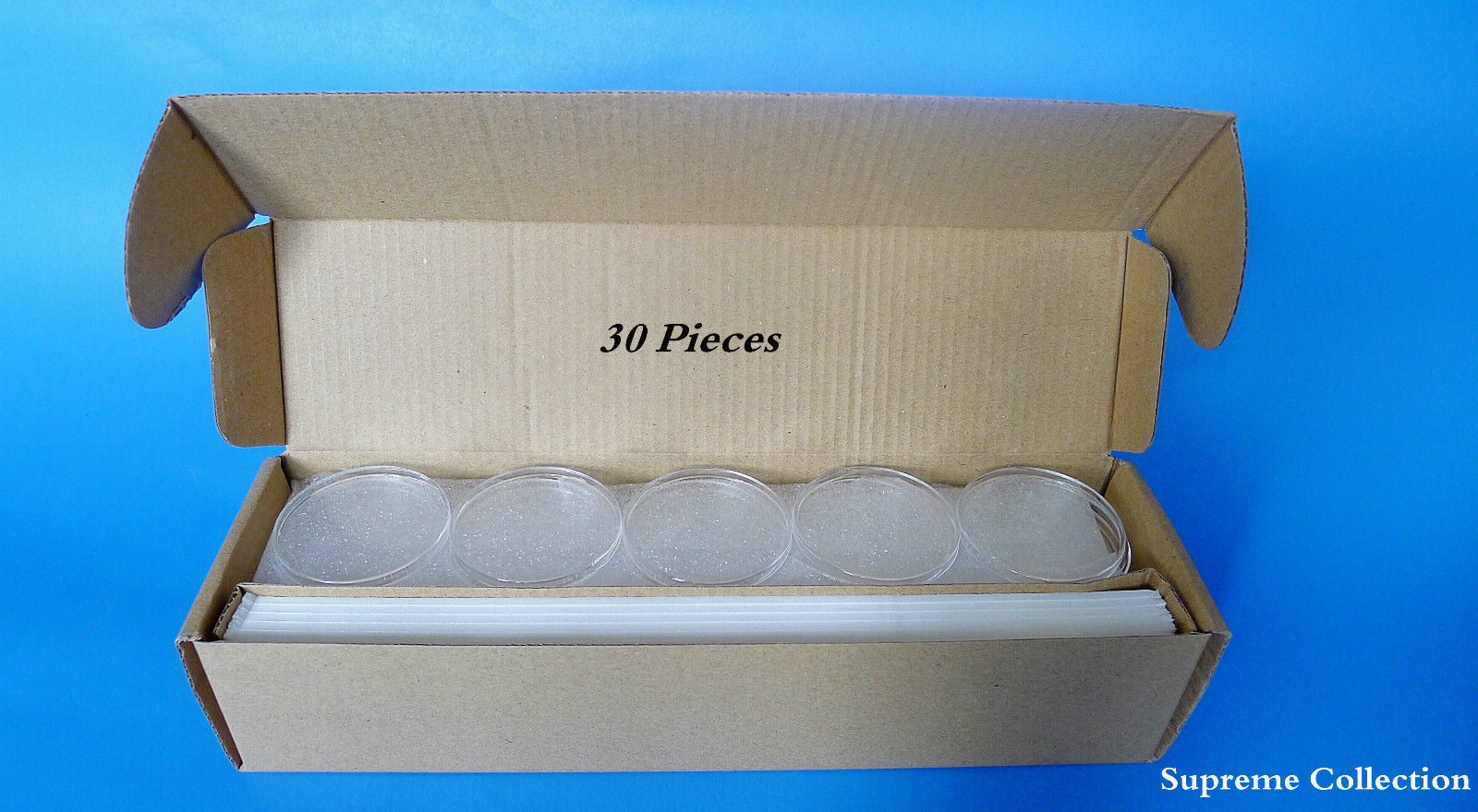30 Pcs Box Round Shape Air-Tite Coin holder 18 23 28 33 38mm High Quality White