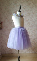 Flower Girl Tutu Skirts Light Purple Girl Skirts for Wedding image 3