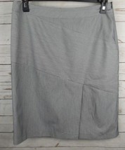 JPR Skirt Size 10 Black PinsStripe Bias Front Split - $14.24