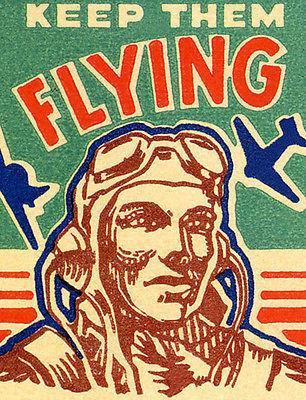 Primary image for 1940's - Keep Them Flying - Matchbook Advertising Poster